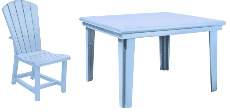 "Generations Sky Blue 46"" Square Dining Room Set"