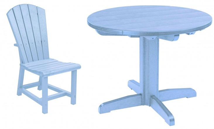 "Generations Sky Blue 32"" Round Pedestal Dining Room Set"