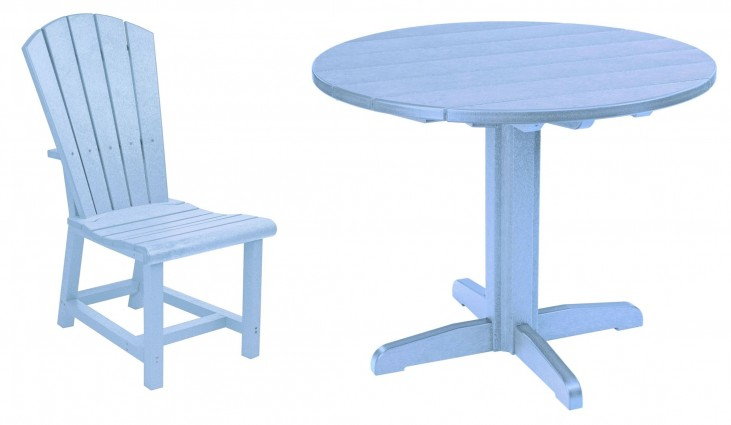 "Generations Sky Blue 37"" Round Pedestal Dining Room Set"