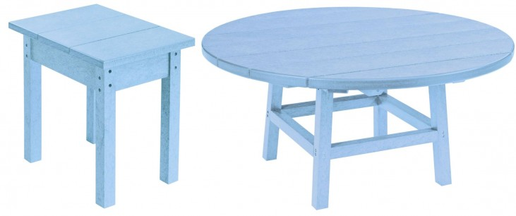 "Generations Sky Blue 37"" Round Occasional Table Set"