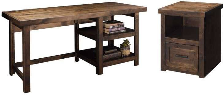Sausalito Whiskey Home Office Set with Writing Table