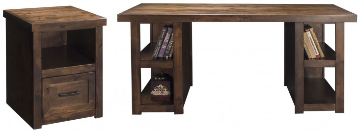 Sausalito Whiskey Home Office Set with Workstation