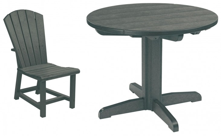 "Generations Slate Grey 37"" Round Pedestal Dining Room Set"