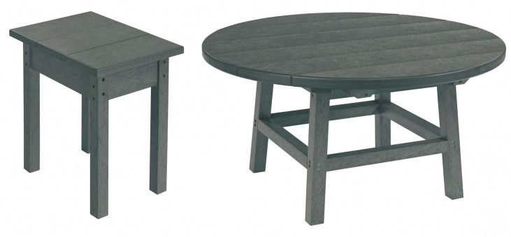 "Generations Slate Grey 37"" Round Occasional Table Set"