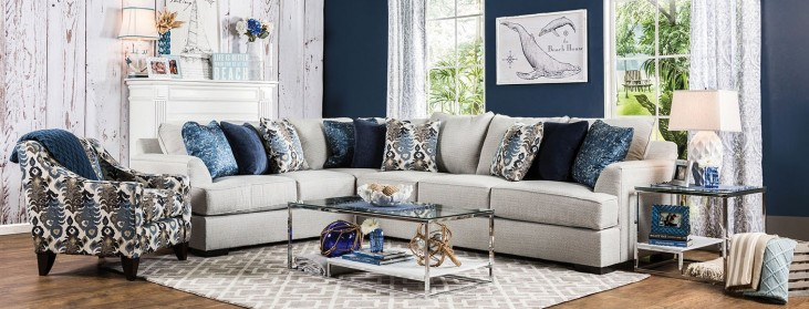 Pennington Light Gray Sectional