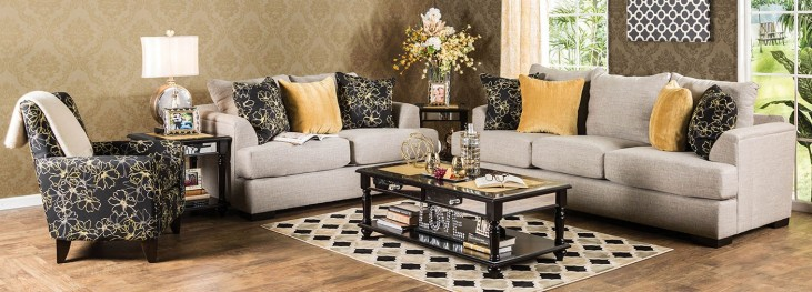 Navan Beige Living Room Set