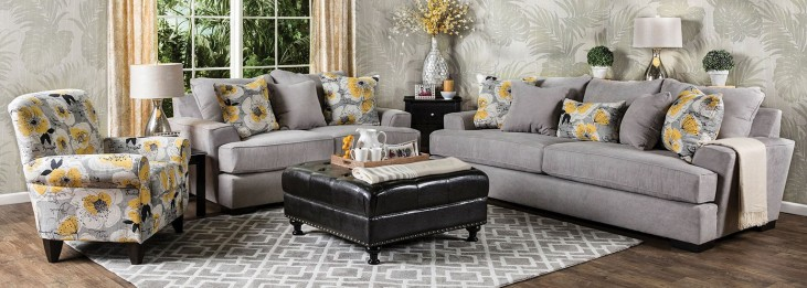 Cashel Gray Living Room Set