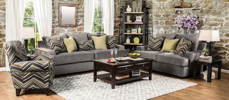 Cashel Gray Olive Living Room Set