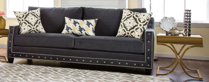 Crescenzo Charcoal Sofa