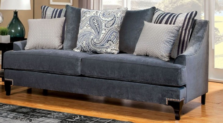 Vittoria Slate Blue Sofa