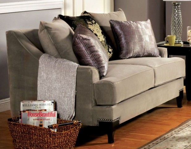 Vittoria Cocoa Brown Loveseat