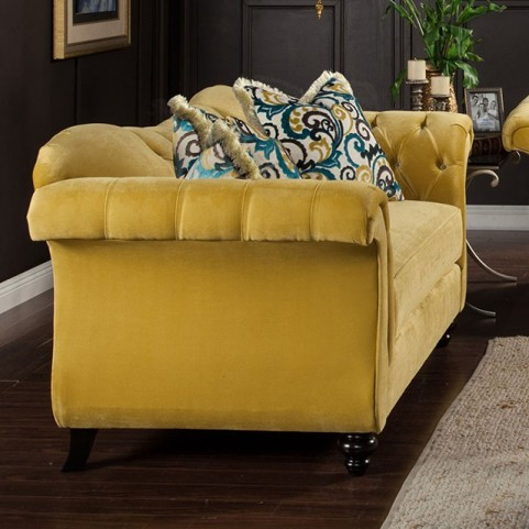 Antoinette Royal Yellow Loveseat