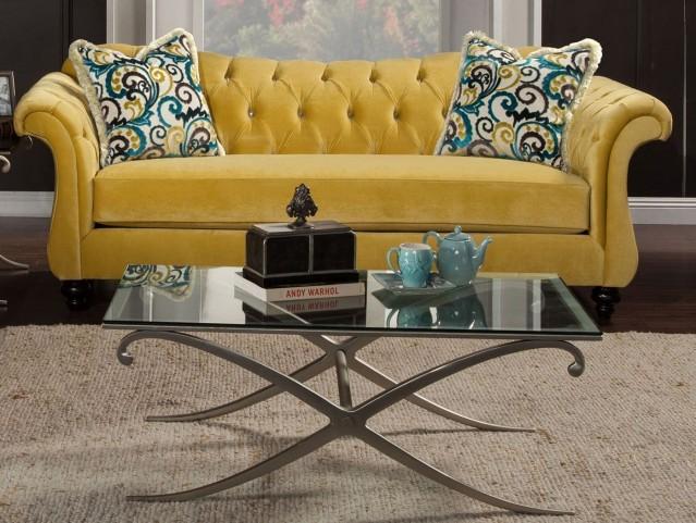 Antoinette Royal Yellow Sofa