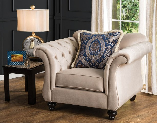 Antoinette Light Mocha Chair