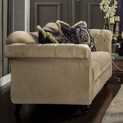 Antoinette Light Mocha Loveseat