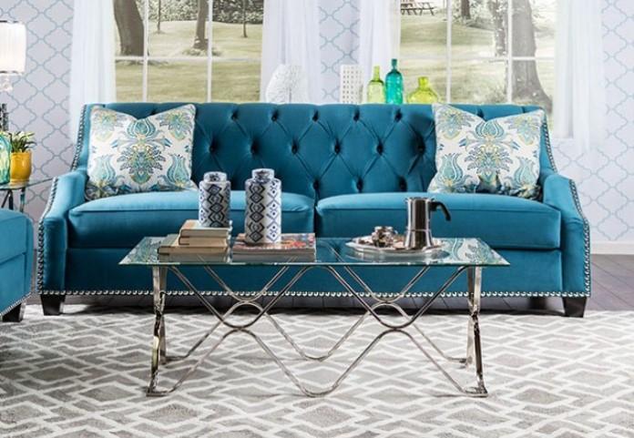 Celeste Azure Blue Sofa