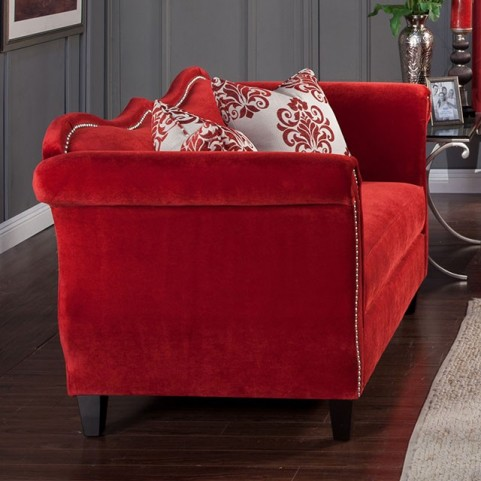 Zaffiro Ruby Red Loveseat