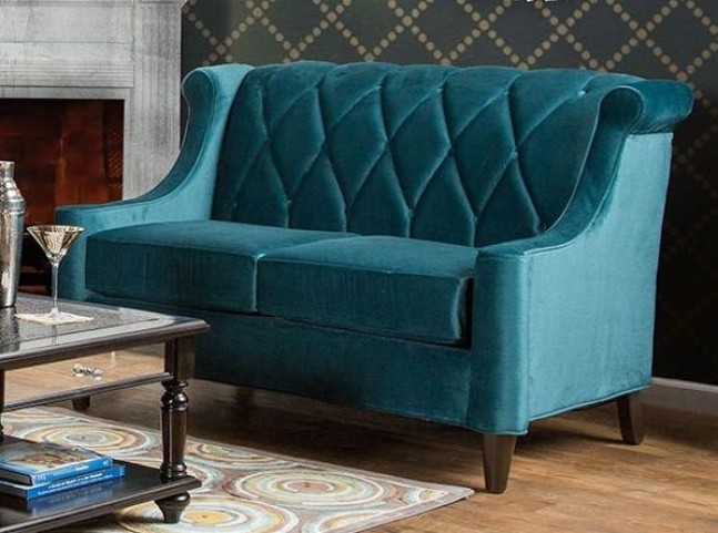 Limerick Dark Teal Loveseat