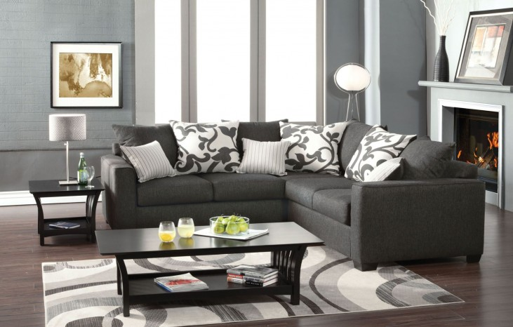 Cranbrook Charcoal Sectional