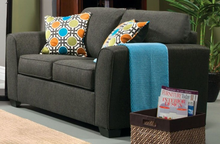 Playa Gray Fabric Loveseat