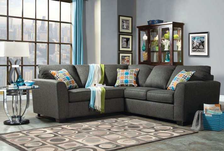 Playa Gray Fabric Sectional
