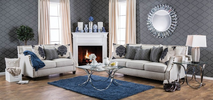Cornelia Beige Living Room Set
