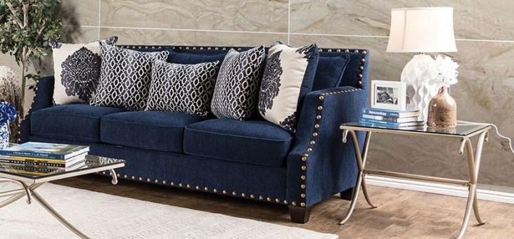 Cornelia Navy Sofa