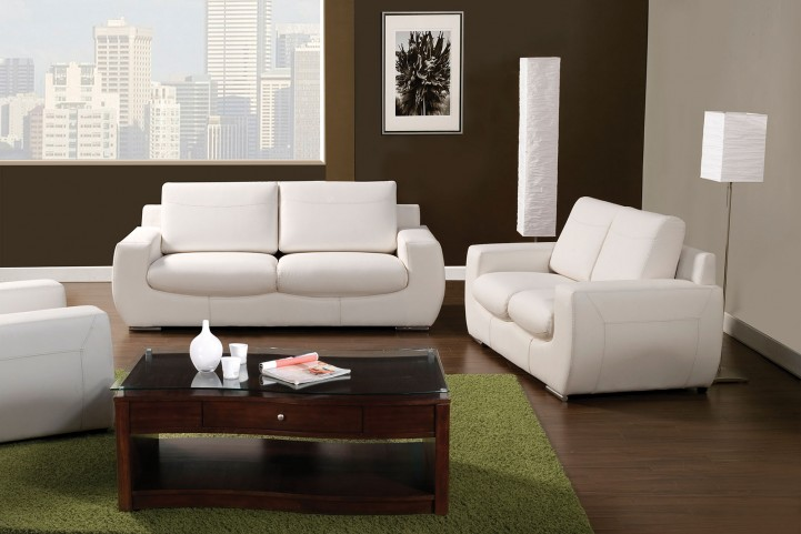 Tekir White Living Room Set