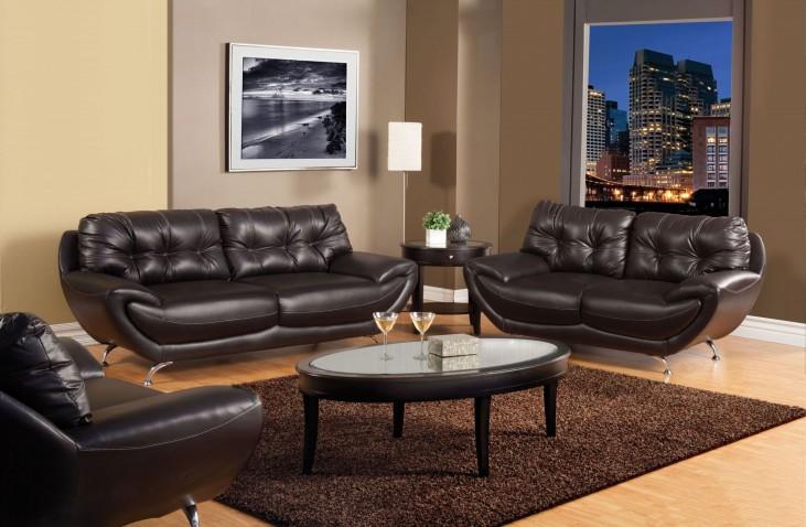 Volos Espresso Living Room Set