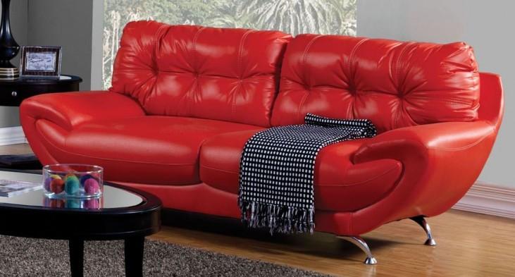 Volos Red Sofa