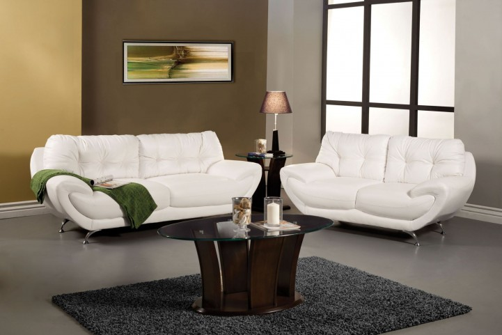 Volos White Living Room Set