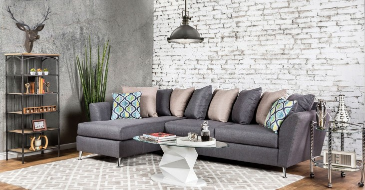 Hetland Chic Gray Fabric Sectional