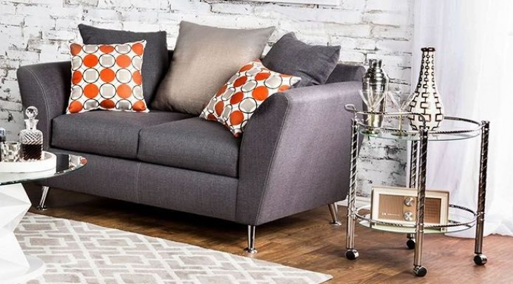 Belfield Gray Loveseat