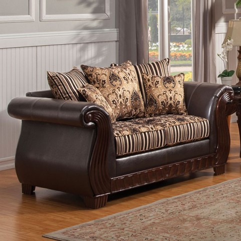 Rutherford Black Loveseat