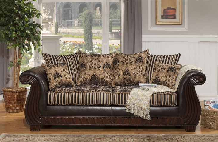Rutherford Black Sofa