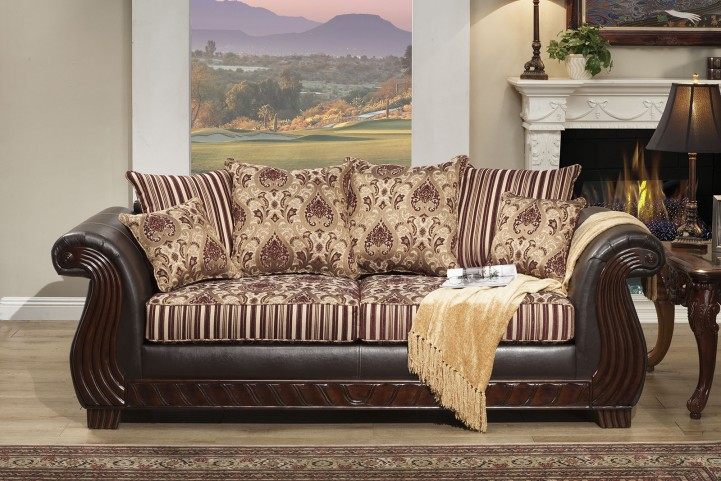 Rutherford Wine Sofa