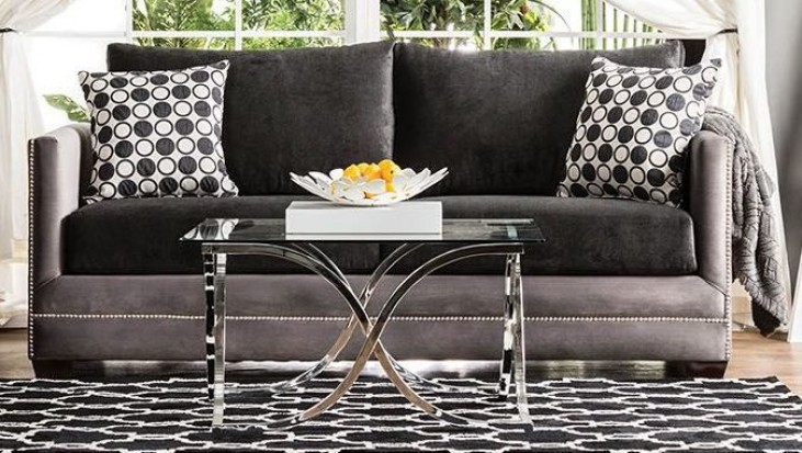 Mobridge Black and Gray Sofa