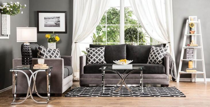 Mobridge Black and Gray Living Room Set