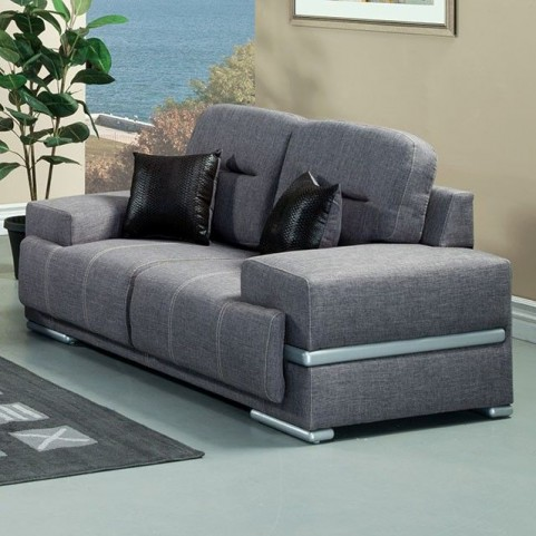 Thessaly Gray Loveseat
