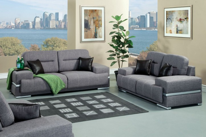 Thessaly Gray Living Room Set