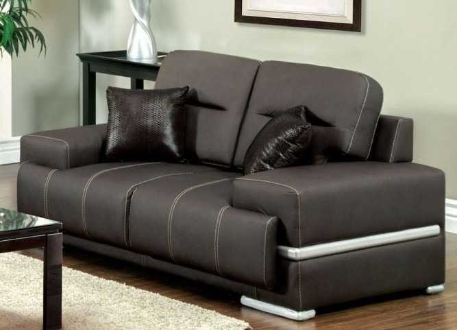 Thessaly Black Loveseat