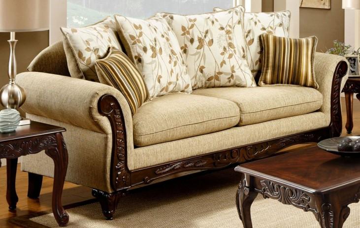 Doncaster Tan Fabric Sofa