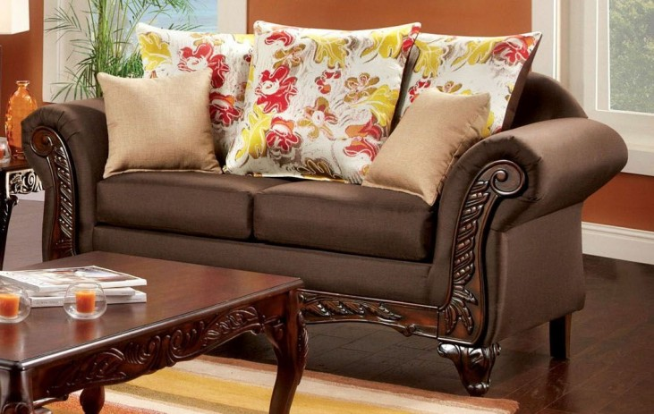 Branford Dark Brown Loveseat
