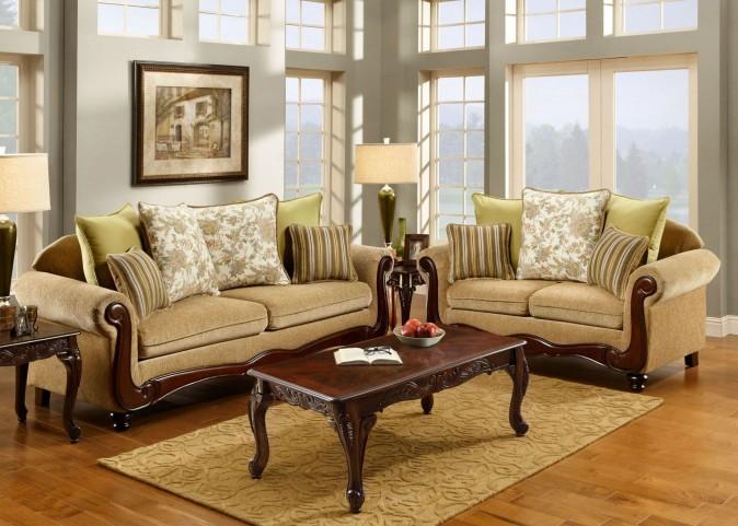 Banstead Tan Fabric Living Room Set
