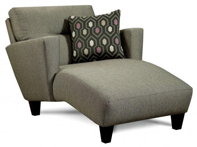 Coltrane Gray Fabric Chaise