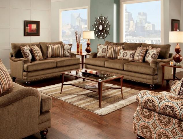 Adderley Brown Living Room Set
