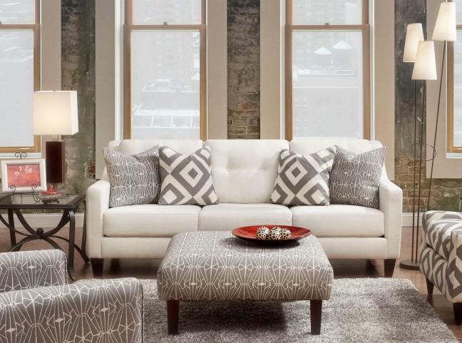 Parker Ivory Living Room Set SM8563 SF Furniture of America