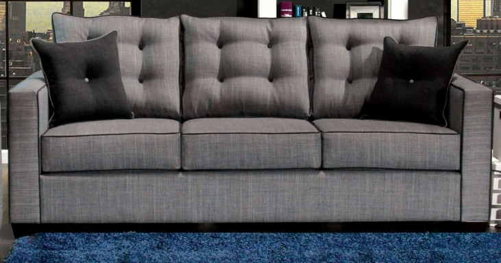 Ravel I Gray Fabric Sofa