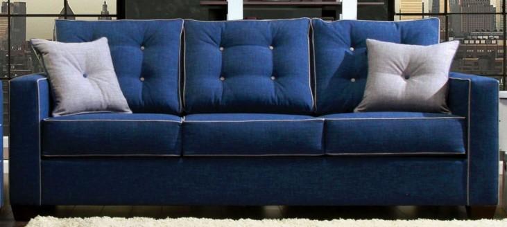 Ravel I Blue Fabric Sofa