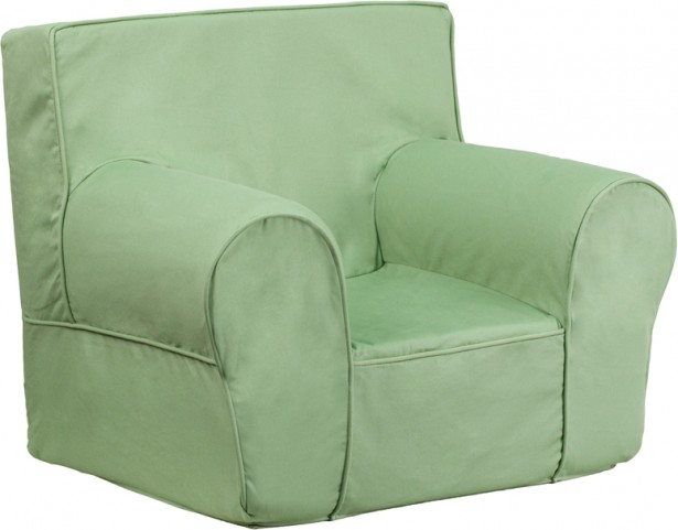 Small Solid Green Kids Chair